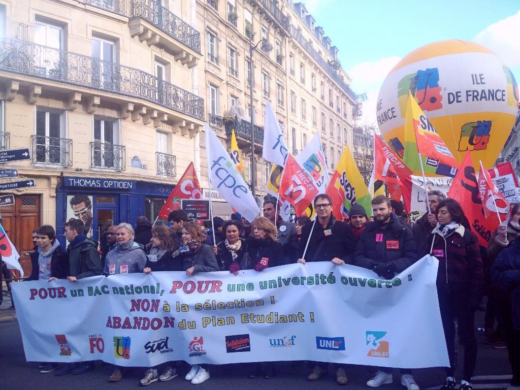 Manifestation parisienne du 1er février 2018 CC-BY-SA SNESUP-FSU