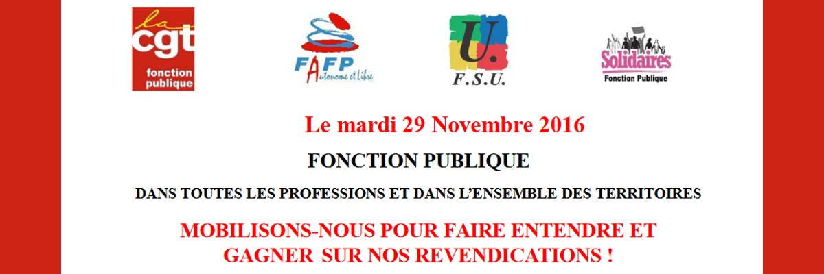 Appel intersyndical CGT-FAFP-FSU-Solidaires