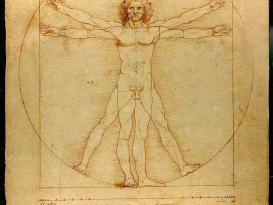 The Vitruvian Man (c.1485) Accademia, Venice