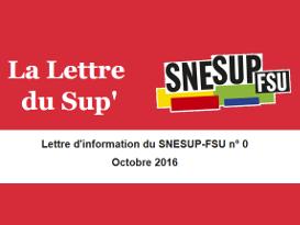 La Lettre du Sup' n° 0 - Octobre 2016